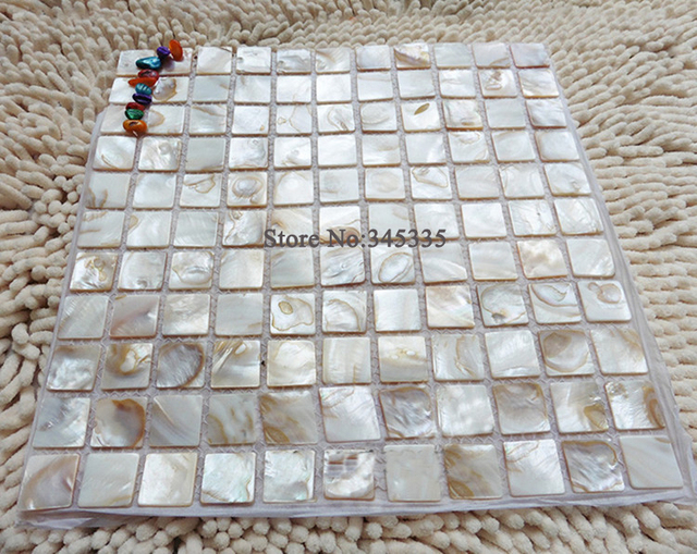 Pcs mosaico delle coperture naturale madre di perla sala da