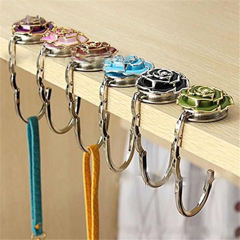 Humor Portable Metal Foldable Bag Purse Hook Handbag Hanger Purse Hook Handbag Holder Shell Bag Folding Table Hook For Wall Hanging Ample Supply And Prompt Delivery Storage Holders & Racks