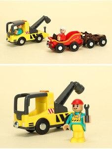 Image 3 - EDWONE tren magnético de madera para niños, helicóptero de madera, accesorios de coche de Navidad, juguete para niños, compatible con madera thoma s Biro, pistas de regalos