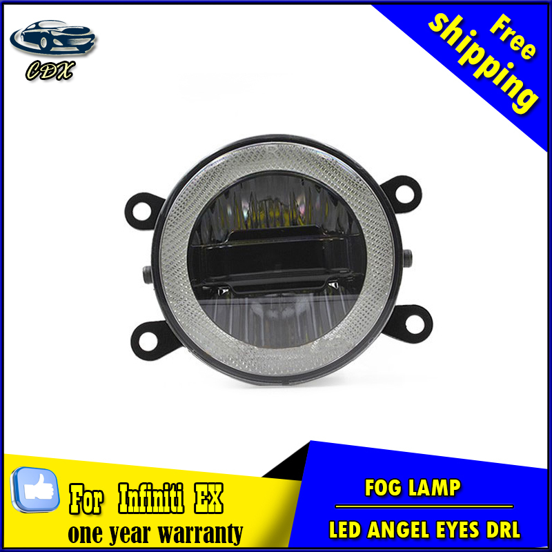 Car styling daytime running light for infiniti ex led fog light auto angel eye fog lamp led drl high&