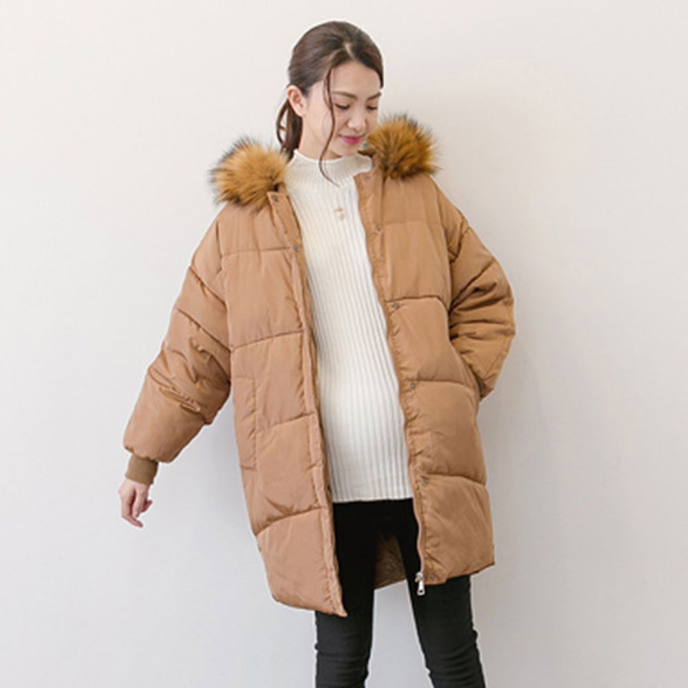 Maternity Winter Coat With Fur Hooded Fashion Thicken Down Coat for Pregnant Women Pregnancy Coats Outerwear Jackets Plus L-XL fashion maternity coat with fur hooded thicken winter coat for pregnant women jacket m 2xl plus pregnancy overcoat windbreaker
