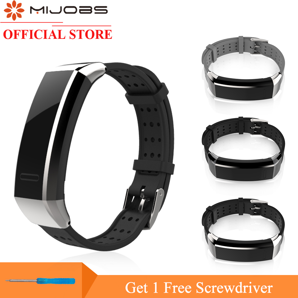 Mijobs Wrist Strap For Huawei Band 2 Pro B19 B29 Silicone Smart Watch Band Replacement For Huawei Band 2 Pro Fitness Bracelet
