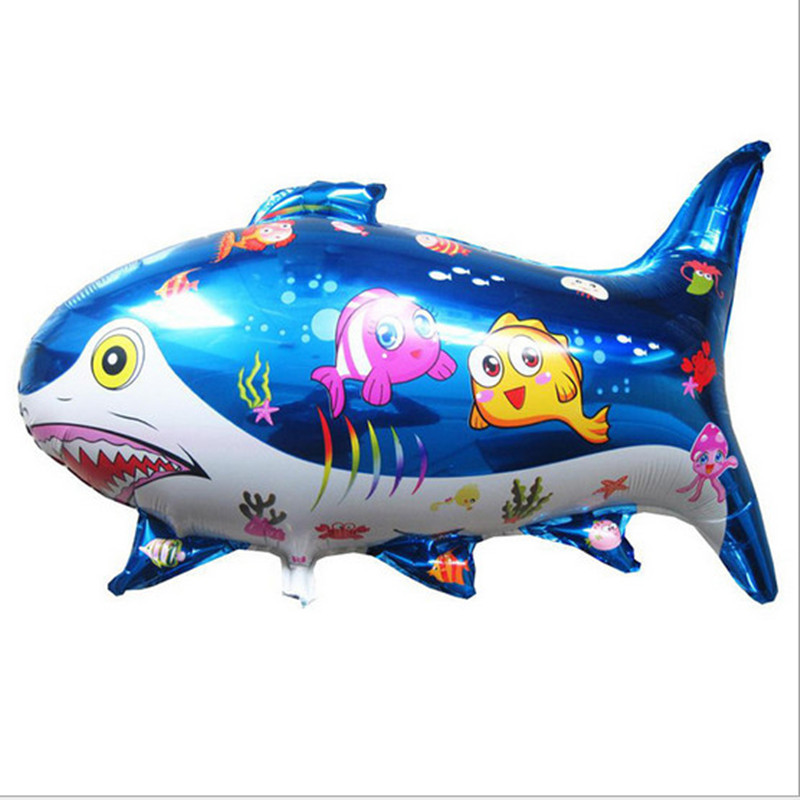 free shipping 1pcs Hot large shark animal shaped aluminum balloons wholesale cartoon toys decorated birthday balloon festival