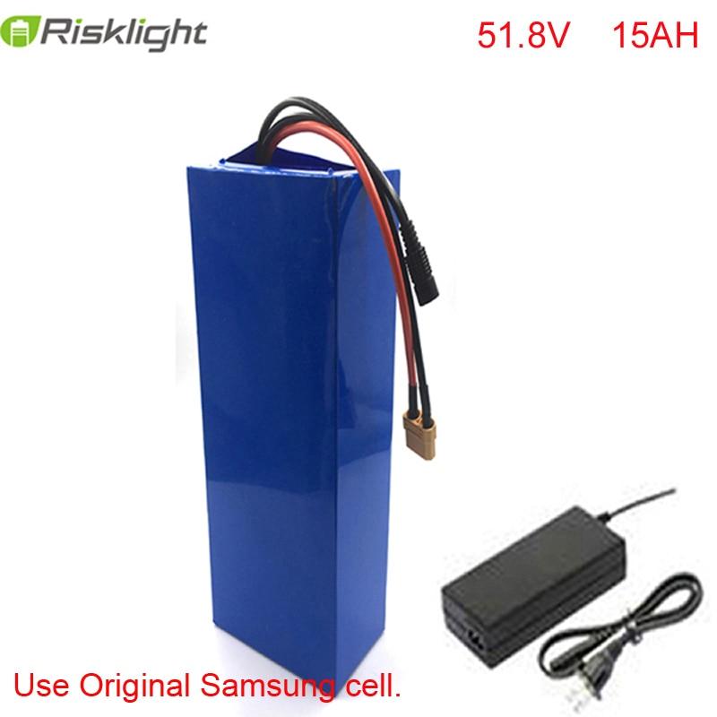14S 51.8V eBike vers le bas tube batterie 52V 15AH 3c 18650 cellules batterie au Lithium pour 48V 1000W Bafang moteur