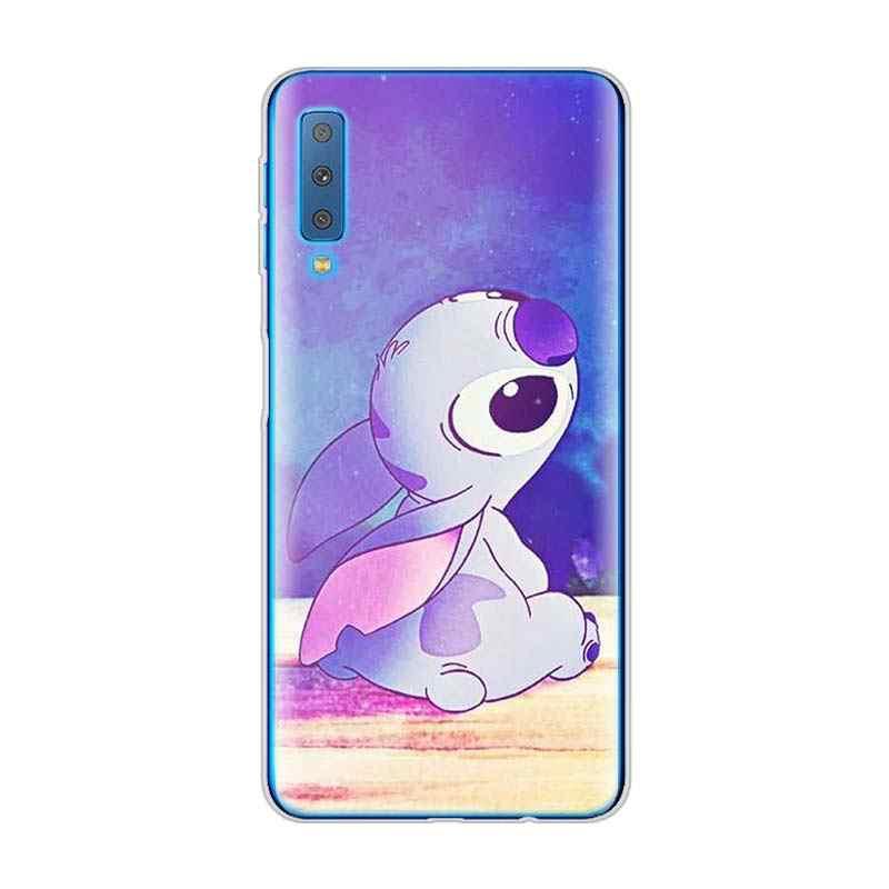 LILO E STITCH OHANA caso de Telefone de Silicone para Samsung Galaxy A7 FAMIL A6 A9 2018 S10 A8 + Plus Plus s10e M20 M30 TPU Soft case