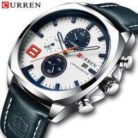 CurrenTop брендовые роскошные мужские наручные часы Curren военные аналоговые Мужские кварцевые часы мужские спортивные наручные часы Relogio Masculino в