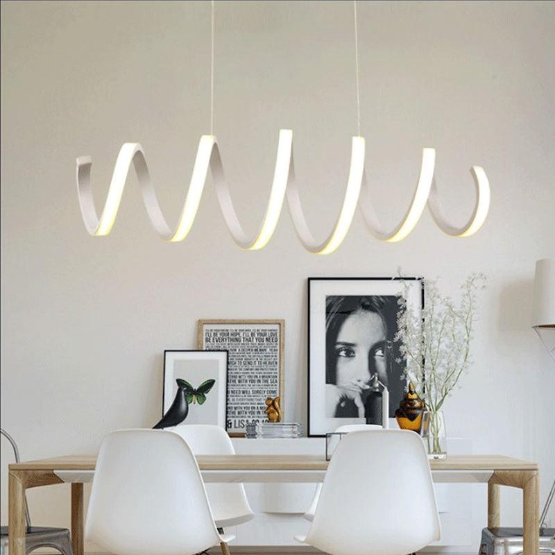 moderno colgante de luz led para la cocina comedor lmpara colgante blanco para cafetera dormitorio suspensin