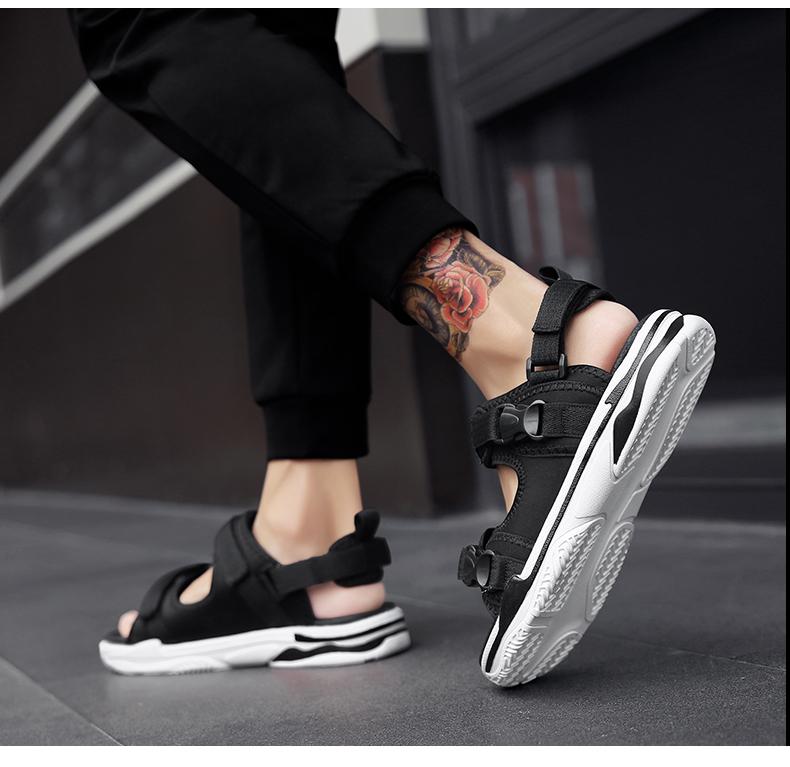 Man Beach Sandals Summer Gladiator Men's Outdoor Shoes Roman Men Casual Shoe Light Flip Flops Slippers Fashion Sandals Casuals 28