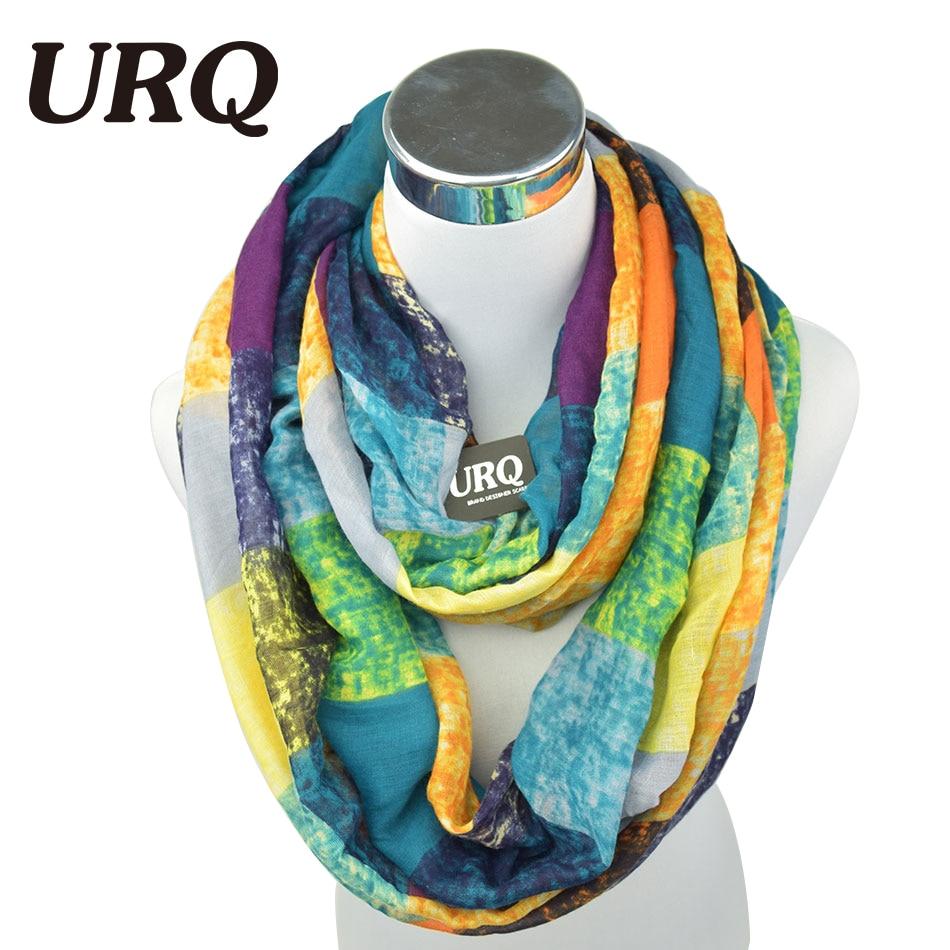 Tube Scarves Warm For Women Fahion Design Plaid Lady Ring Scarfs Infinity Scarf Tube V8A18430