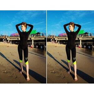 Женский купальник Рашгард, с длинным рукавом, из лайкры, для серфинга, большого размера, 2019