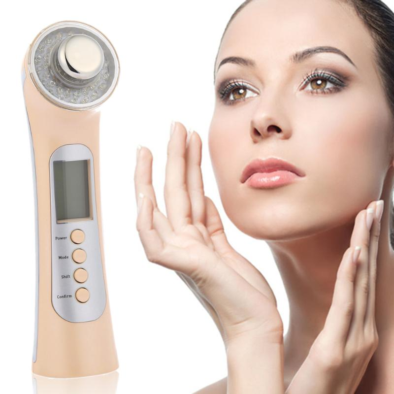 Multifunction Photon Ultrasonic Facial Massager Skin Care Acne Removal Beauty Machine Facial Deep Cleaning Face Lift 3mhz ultrasonic facial massager galvanic deep cleaning led light photon care acne removal skin rejuvenation face lift spa beauty