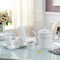 Костяной фарфор Европейский Чай комплект бытовой Керамика Кофе чашки комплект английский послеобеденный черный Чай чашки Чай горшок Чай
