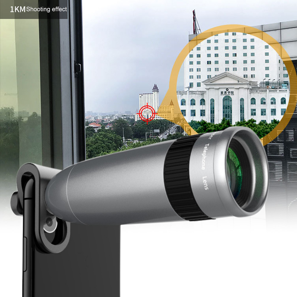 Hot Sale Make image quality better and clearer Cell Phone Lens 20X Optical Zoom Lens Clamp with Tripod for Universal Smartphones