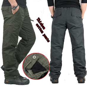 Image 2 - Winter Double Layer Thick Men Cargo Pants Casual Warm Baggy Cotton Trousers For Mens Pants Male Military Camouflage Tactical