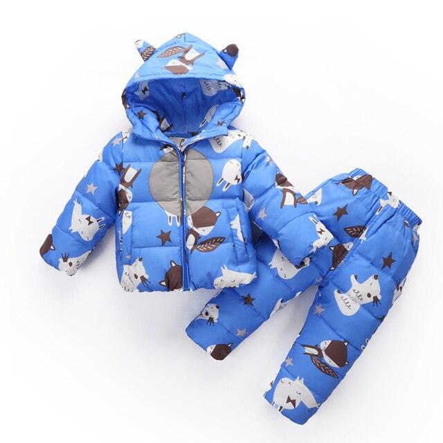 52e817135 2018 nuevo invierno ropa de niños Sets chicas caliente abajo chaqueta para  los bebés 1-