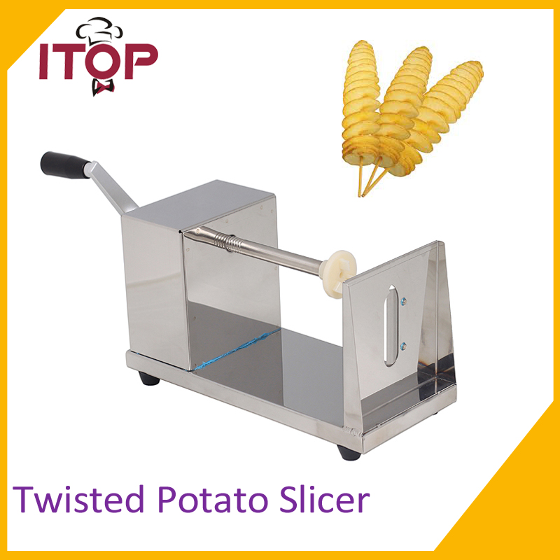 Twist Potato Cutter Slicer Shredders Tornado Fruit Vegetable Tools Spiral Machine Stainless Steel potato spiral cutter stainless steel electric fruit vegetable spiralizer professional kitchen tools potato cutting machine