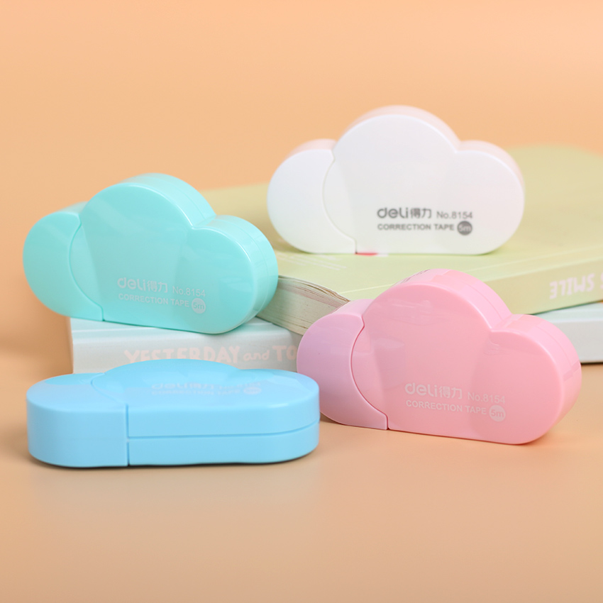 1 PC Popular Mini Small Clouds Shaped Correction Tape Altered Tools School Office Corrector Stationery Kids Gift 4 Colors image