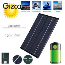 Universal Solar Cell Battery Power Supply Energy Charger Silicon Panel 2W 12V 160MA Portable Output For iPhone Samsung PSP Camer