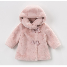 Abrigo de invierno para niñas, ropa para niños, abrigo de piel de conejo para niñas, chaquetas, ropa de bebé, Parka cálida, Ropa para Niñas, disfraz de 1 6T