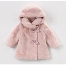 เด็กทารกฤดูหนาวเสื้อเด็กเสื้อผ้ากระต่ายFur Coatสำหรับแจ็คเก็ตหญิงเสื้อผ้าเด็กชุดเสื้อผ้าสำหรับเครื่องแต่งกายหญิง1 6T