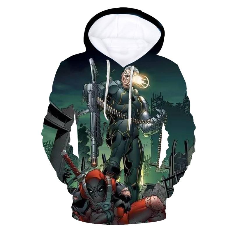 2018 autumn and winterDomineering Deadpool 3D T-shirt / hoodie / sweatshirt cuteT-shirt unisex T-shirt top