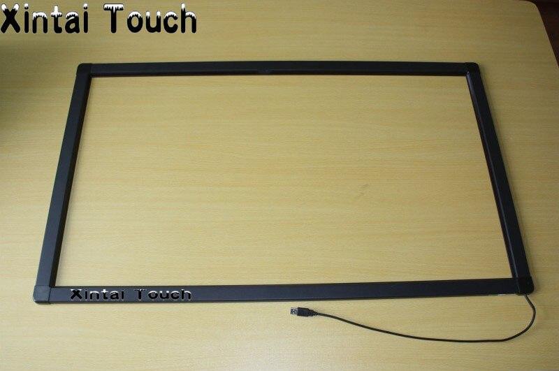 Бесплатная доставка! 65 дюймов ИК Multi Сенсорный экран Рамки 10 очков ИК сенсорный Панель наложения комплект без стекла