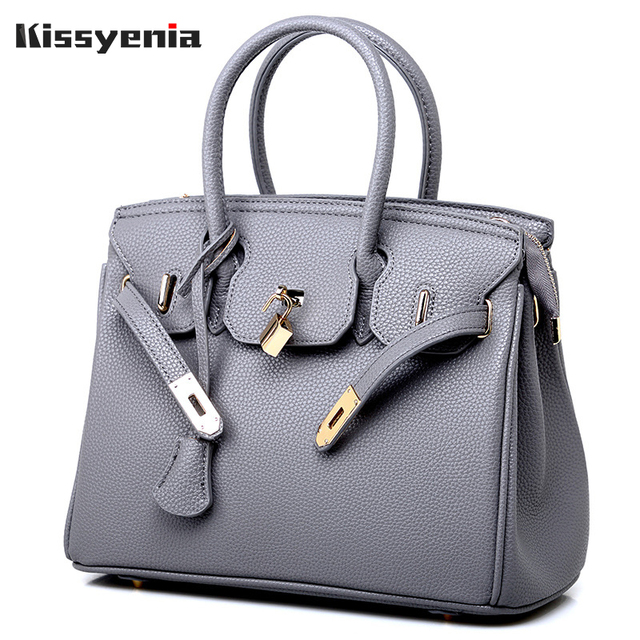 Kissyenia Women Handbags Luxury Brand H Leather Messenger Saffiano Bags Women Berkin Shoulder Bags Top Handle Tote Bag Ks1014 by Kissyenia