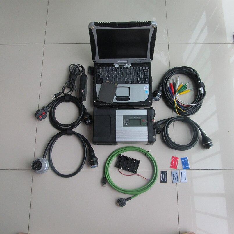 Mb star c5 sd connect pour mb outil de diagnostic mb sd avec cf19 ordinateur portable à écran tactile 2019.07 plus récent logiciel ssd super vitesse