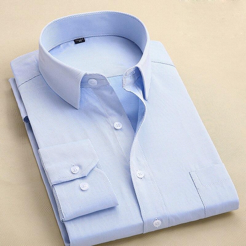 2019 Neue Frühjahr Langarm Männer Shirts Grün Reine Farbe Twill Business Casual Shirts Männlichen Mode Kragen Formale Kleid Shirts