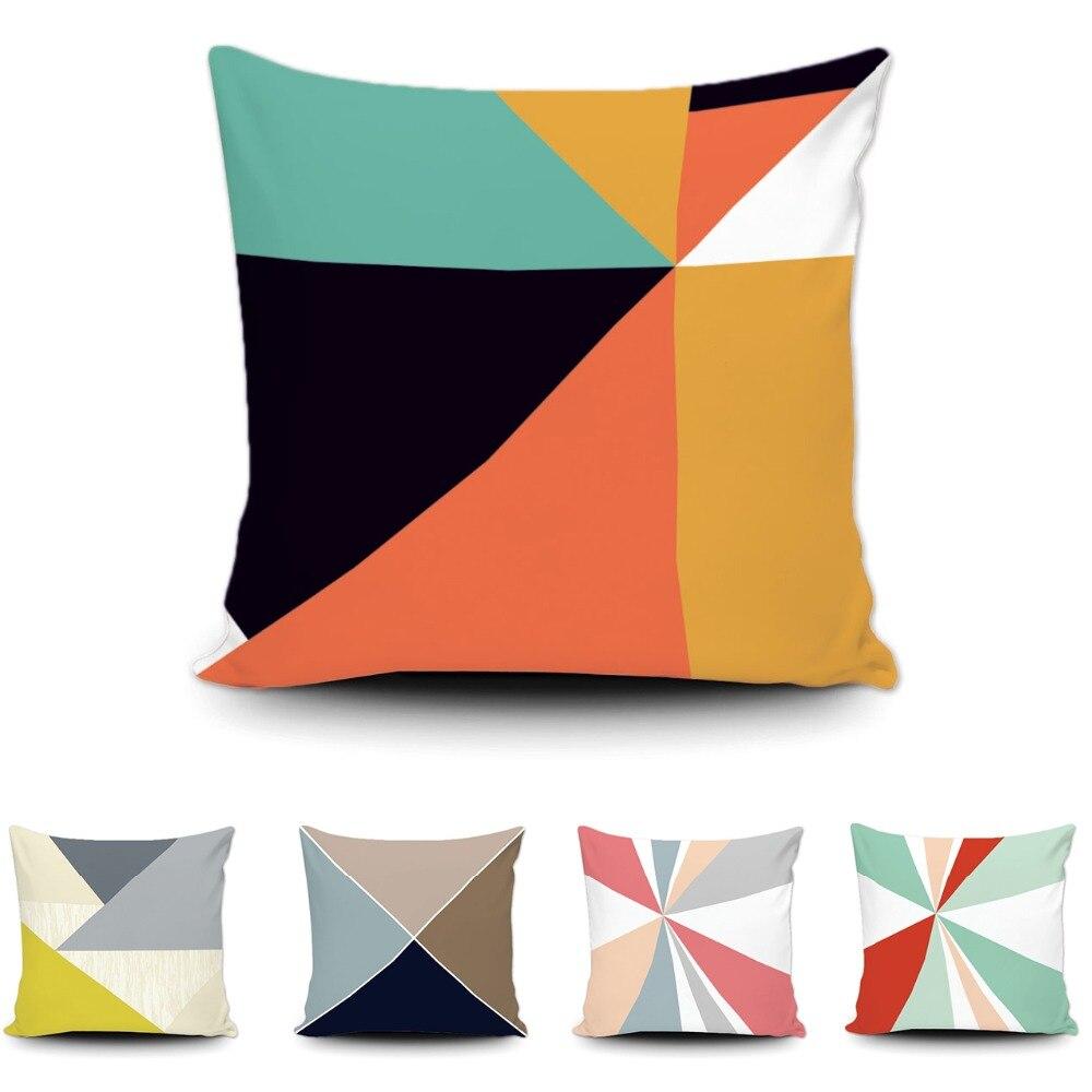 Moderní geometrické umění polštář obal jedinečný design prasknutí trojúhelník bavlna polštář pohovka auto pohovka polštář pouzdro pro dárek 20x20in