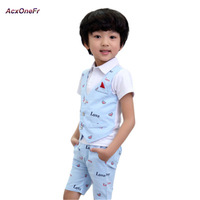 Summer Baby Boy Clothing Set Gentleman Toddler Vest Shirt Pants 2pcs Formal Wedding Suits Garcon Tuxedo