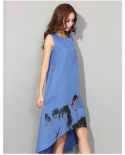 Women Chinese Linen Vintage Dress (4 colors)