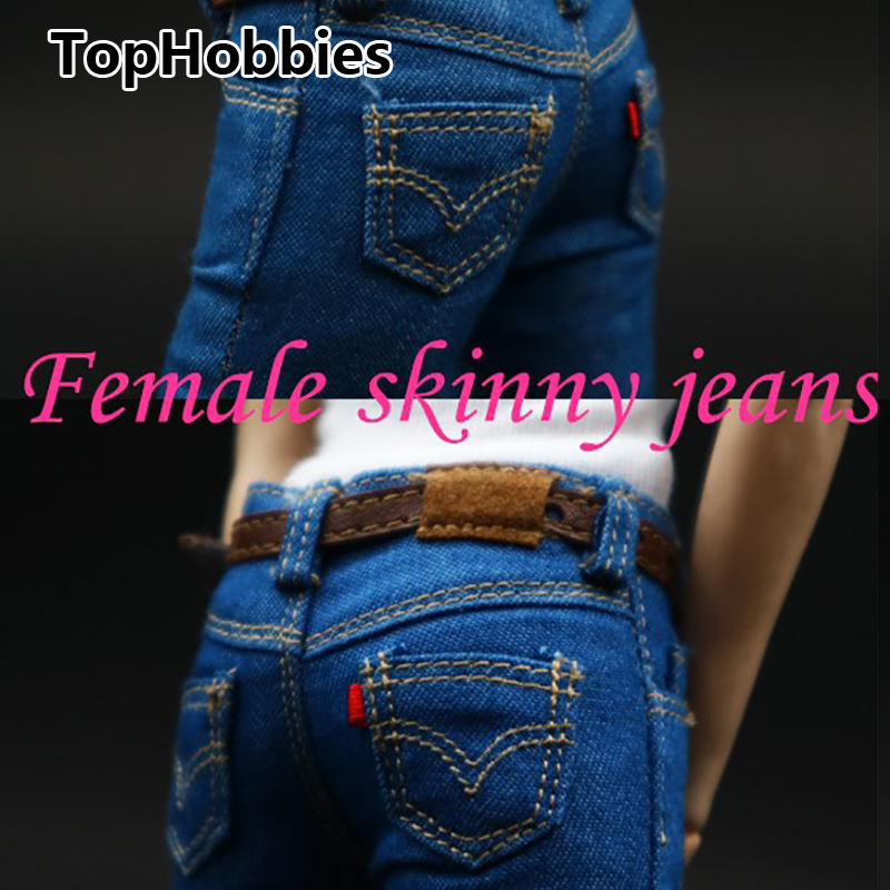 1/6 Scale Female Figure Clothes Women's skinny jeans CF001 A/B/C for 12 Inch PHicen Doll Jiaoudol Action Figure Accessories