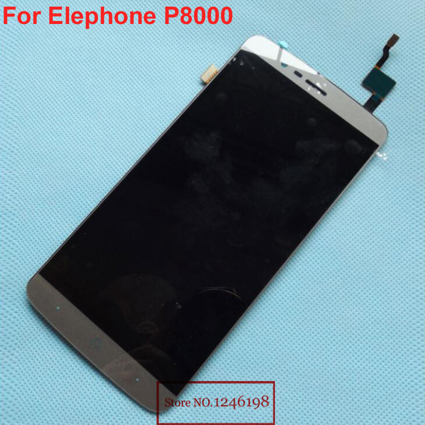 ФОТО Gray White Gold Good Working Black Full LCD Display Touch Screen Digitizer Assembly For Elephone P8000 Mobile Replacement Parts