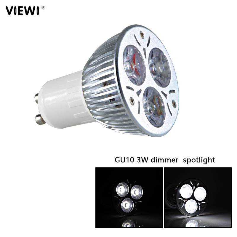 bombillas <font><b>gu</b></font> <font><b>10</b></font> <font><b>led</b></font> spotlight dimmer 220v <font><b>3W</b></font> bulb light 60 degree dimmable GU10 ceiling Aluminum home lights energy saving lamp image