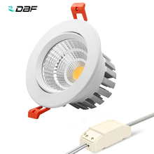 [DBF] New model LED Dimmable Downlight COB 6W 9W 12W 15W 18W 24W LED Spot light LED decoration Ceiling Lamp AC 110V 220V 300ma dimmable led driver 7w 9w 10w 12w 15w 18w 21w 24w power supply ac 110v 220v for led ceiling lights bulb dc plug