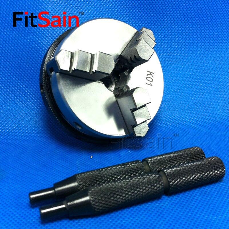 FitSain 3 jaw Three jaw k01 63 lathe chuck M14x1 self centering hand tight chuck 63mm