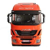 Редкие 1:12 Масштаб Iveco Stralis привет Way тяжелый грузовик с прицепом игрушки модели автомобиля Ограниченная серия хобби Коллекция
