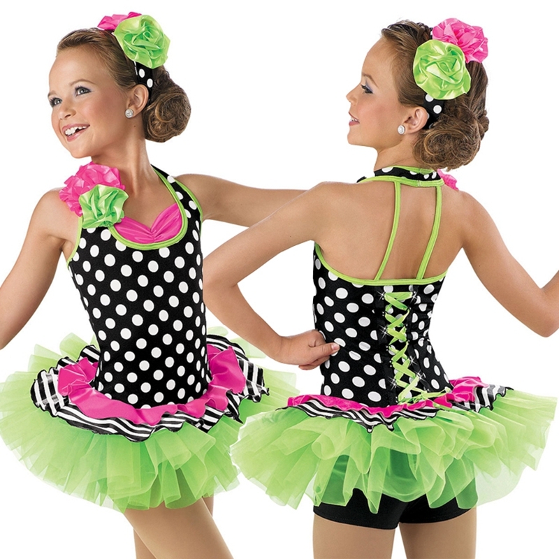 Colorful child dance costume ballet tutu kid stage performance dance costume ballerina girl tutuBL0005