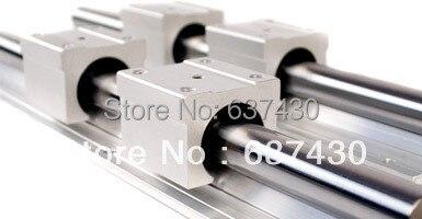 ФОТО 2pcs linear rail SBR20 L2000mm+4pcs SBR20UU linear block bearings+4pcs SK20 shaft support for cnc router