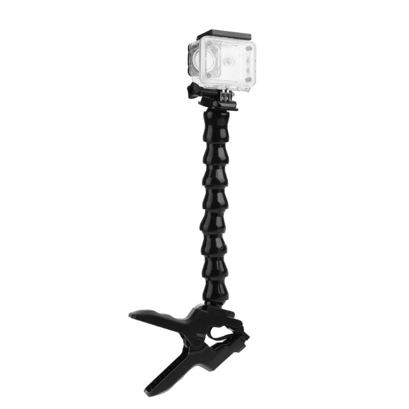Jaws Flex support de Fixation avec 8 Section Du Cou Réglable pour Gopro hero 5 6 4 3 + 3 Session SJ4000 Sport Caméra Trépied Stand
