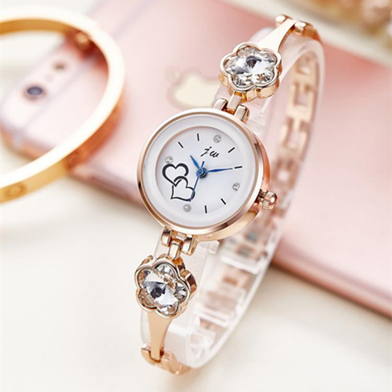Top Brand JW Luxury Silver Quartz Watch Women Stainless Steel Crystal Wrist Lady Dress Watches Female Clock Gifts