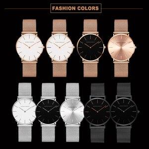 Image 5 - Relogio Feminino Hannah Martin Luxury Brand DW Style Women Watches Stainless Steel Mesh Rose Gold Waterproof Ladies Quartz Watch