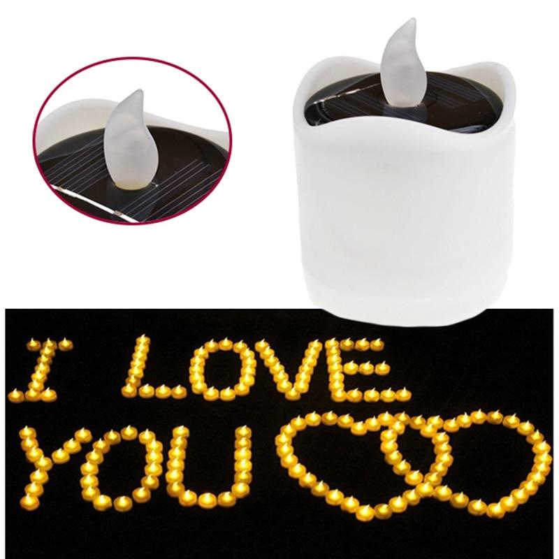 LED electronic Candle Battery Wedding Decor Romantic Warm White Tea Light Flameless Table lamp Night