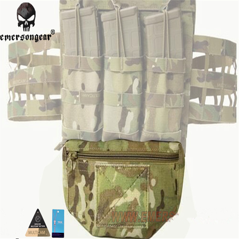 EMERSONGEAR Echtes Multicam Tropic Ariden Schwarz Rüstung Träger montiert Tropfen Molle Tactical Pouch Für AVS GPA CPC EM9283