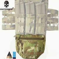 EMERSONGEAR Genuino Multicam Tropic Arido Nero Armor Carrier montato di Goccia Molle Tattico Del Sacchetto Per I AVS JPC CPC EM9283