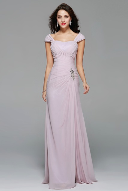 Maid Of Honor Dresses With Sleeves Charming Y Long Bridesmaid Dress A Line Sweetheart Pleat