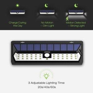 Image 4 - 2 Pcs Mpow 42 LED Motion Sensor Solar Light Wall Lamp 3 Adjustable Sensor Lighting Time Weatherproof Luz Solar Led Para Exterior