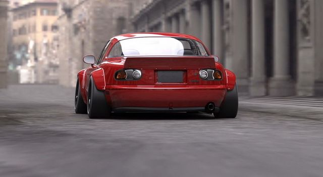 Frp Fiber Glass Rocket Bunny Style Rear Duck Tail Wing For