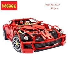 DECOOL 3333 1322 pcs 1:10 F1 racing modelo blocos tijolos de construção de brinquedos definir Apto para lego technic 8145 crianças presentes